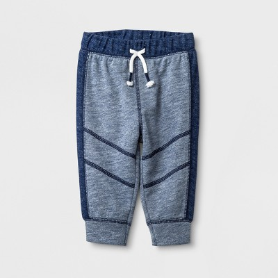 Baby Boys' French Terry Joggers - Cat & Jack™ Blue 6-9M