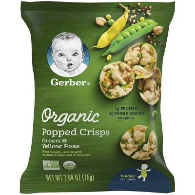 Baby & Toddler Snacks: Gerber Organic Popped Crisps