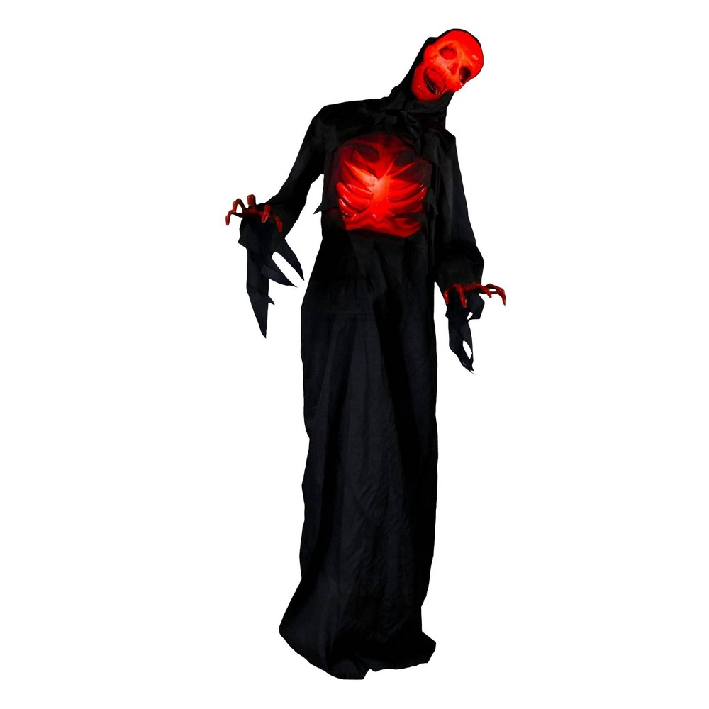 Image of Animated Red Demon Decorative Halloween Mannequin, Black