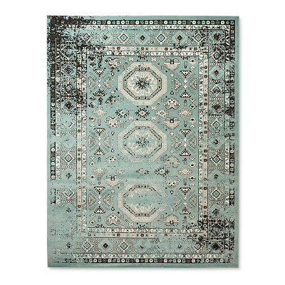Turquoise Medallion Woven Area Rug 5'X7' - Threshold™