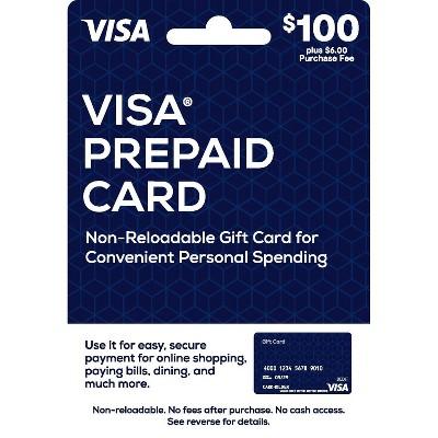 Visa Prepaid Card - $100 + $6 Fee