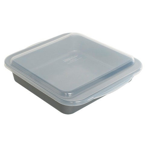 9 X 9 Square Cake Pan with Lid - Room Essentials™ - image 1 of 1