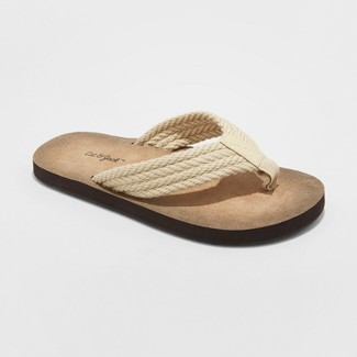 Boys' Fred Flip Flop Sandals - Cat & Jack™ Tan M