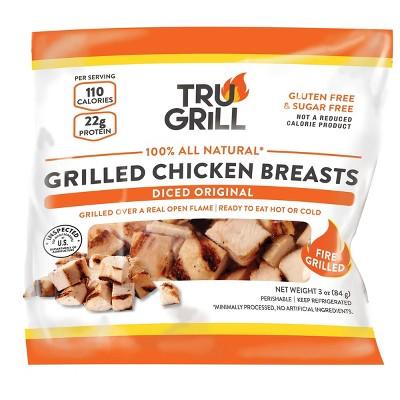 Tru Grill Grilled Diced Original Chicken Breasts - 3oz