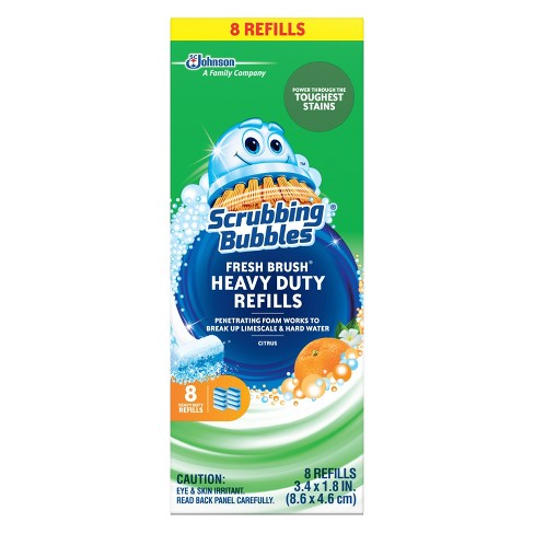 scrubbing bubbles heavy duty fresh brush refills 8ct target