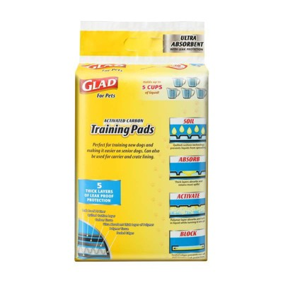 Glad Ultra-Absorbent Activated Carbon Training Dog Pads - 40ct