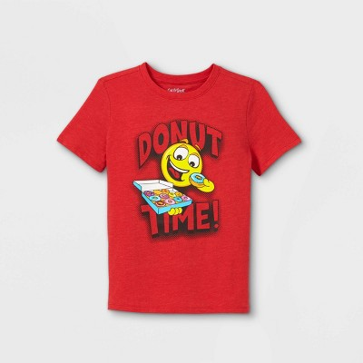 Boys' Emoji Short Sleeve Graphic T-Shirt - Cat & Jack™ Bright Red