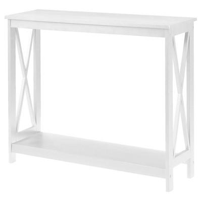 Oxford Console Table White - White - Convenience Concepts