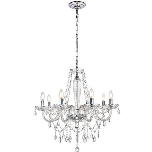 "Elegant Lighting LD4002D28 Verdi 8 Light 28"" Wide Crystal Chandelier - image 1 of 1"