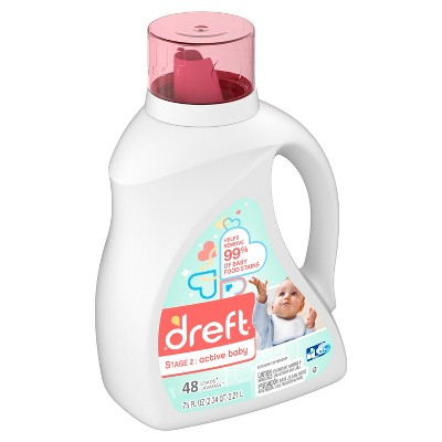 Dreft Active Baby Liquid Laundry Detergent - 75oz