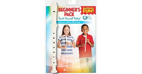 Recorder Fun! Beginner's Pack : Teach Yourself Today - Easy Lessons With over 40 Fun Songs! (Paperback) - image 1 of 1