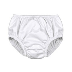 i play by green sprouts Baby Pull-up Swim Diaper - White