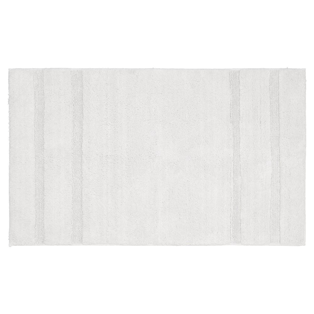 Garland Majesty Cotton Washable Bath Rug - White (30