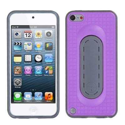 MYBAT For Apple iPod Touch 5th Gen/6th Gen Purple Gray Checker Skin Case w/stand