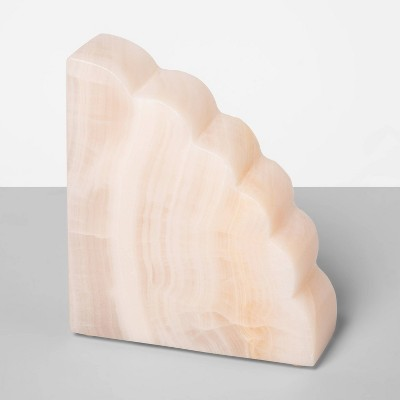 "4.5"" x 1.5"" Rose Quartz Bookend Pink - Opalhouse™"
