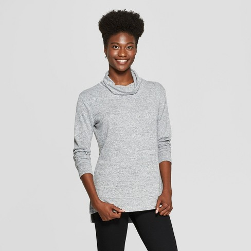 dfb9748d78fa5b Women s Long Sleeve Cozy Cowl Neck Top - A New Day™ Heather Gray L   Target