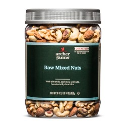 Unsalted Raw Deluxe Nuts - 30oz - Archer Farms™