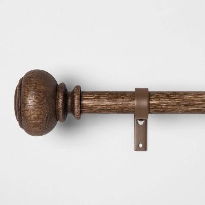 Wood Knob Curtain Rod - Threshold™