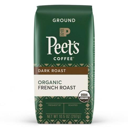 Peet's Coffee Organic French Roast Dark Roast Ground Coffee - 10.5oz - image 1 of 4