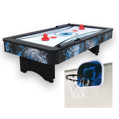 """Hathaway 42"""" Crossfire Tabletop Air Hockey Table with Mini Basketball Game"""