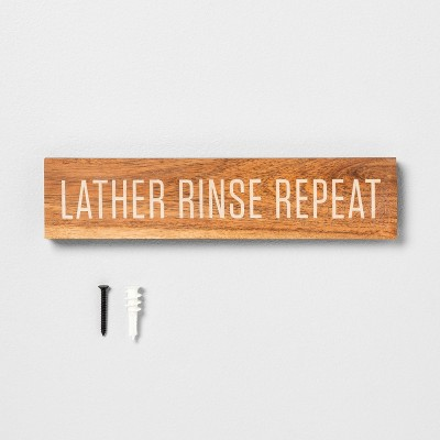 Lather Rinse Repeat Bathroom Wall Art - Hearth & Hand™ with Magnolia
