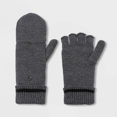 Men's Knit Convertible Glove - Goodfellow & Co™ Charcoal Heather One Size