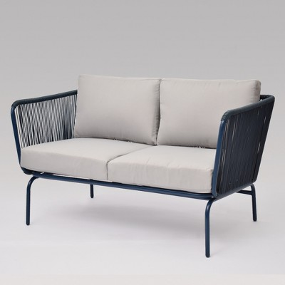Fisher Patio Loveseat Blue - Project 62™