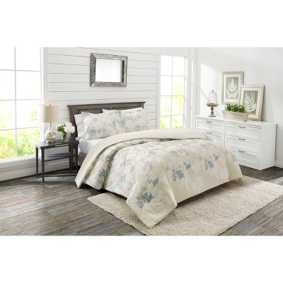 3pc Floral Garden Party Reversible Comforter Set - Marble Hill