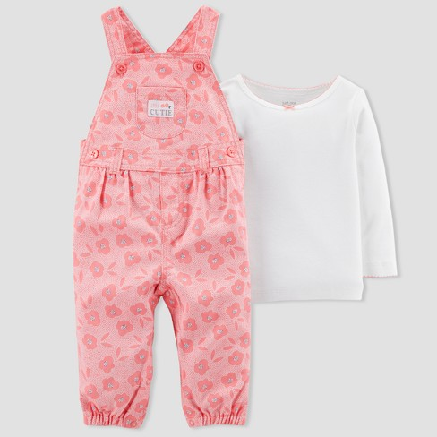 ab864434dabc Baby Girls  2pc Floral Overall Set - Just One You® Made By Carter s ...