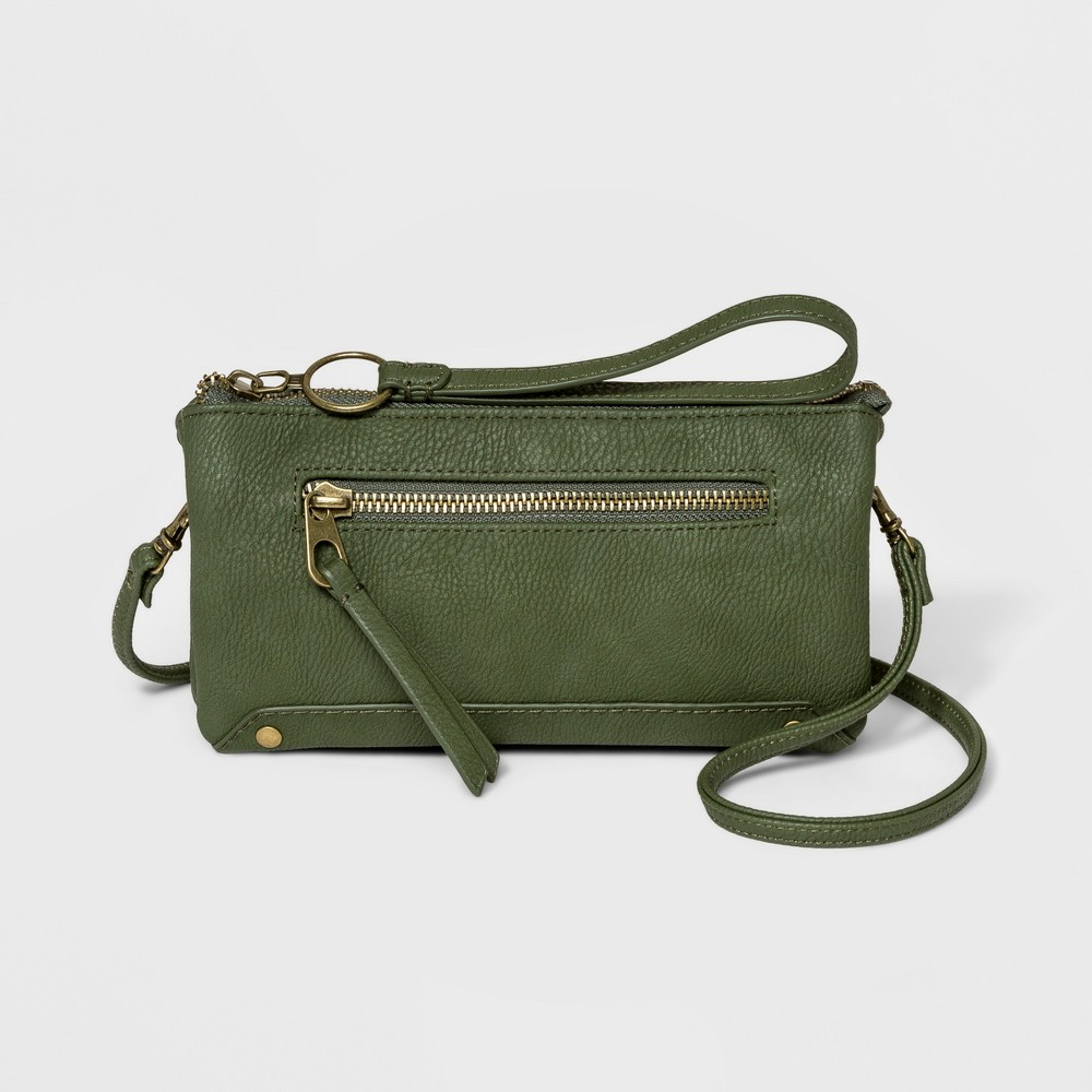 Women's Large Wallet On A String - Universal Thread Olive (Green)