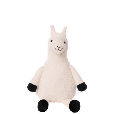 Wondershop™ White Llama Stuffed Animal with Black Plush Feet - Small