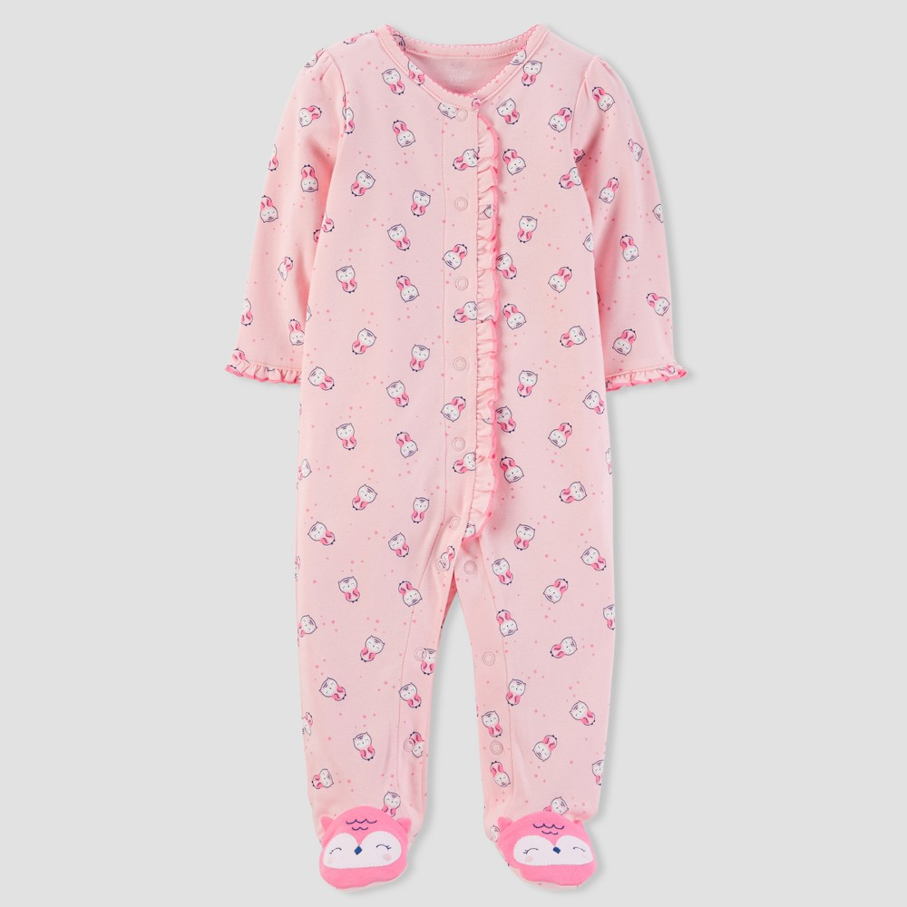 Baby Girls' Owl Sleep N' Play - Just One You made by carter's Pink 3M