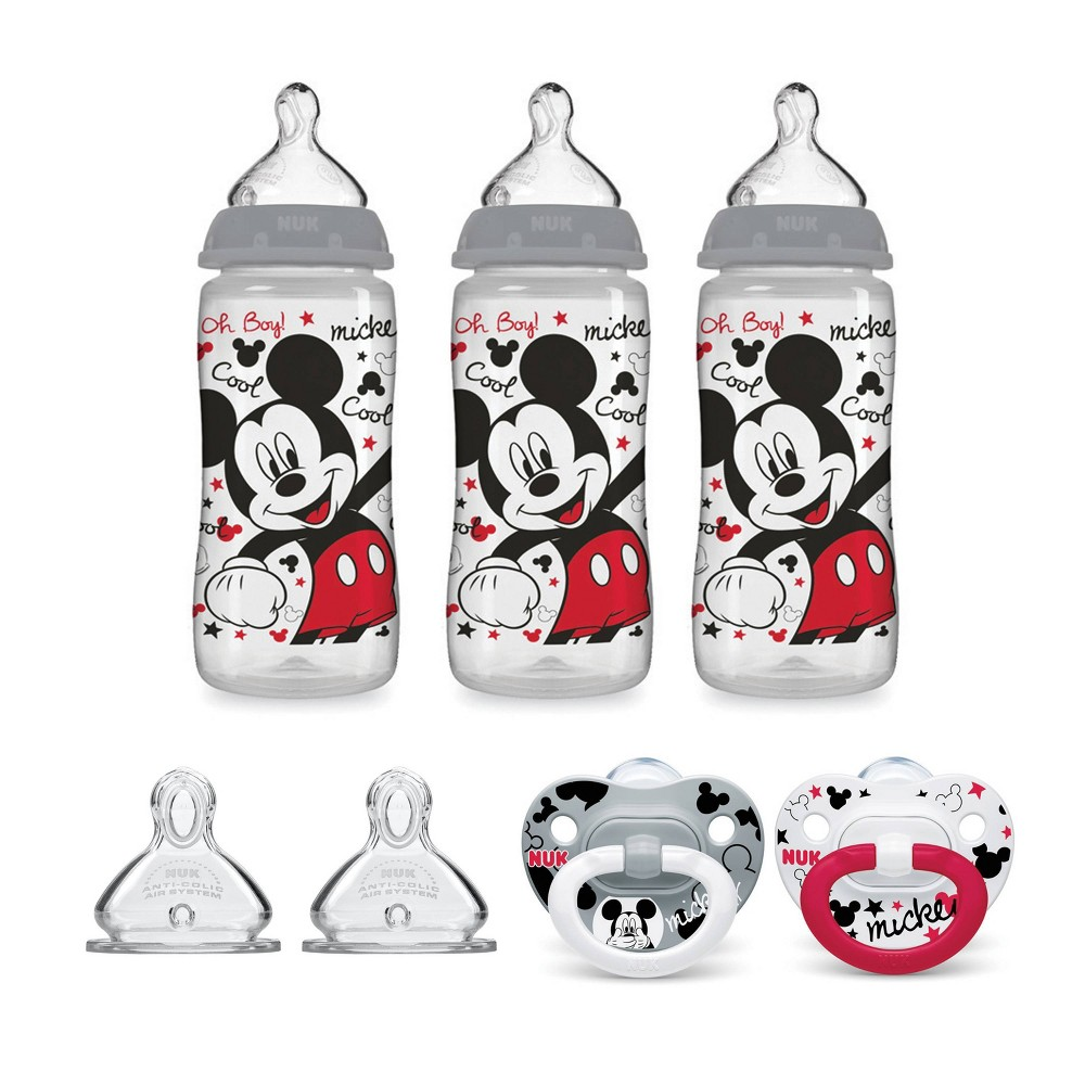 Image of NUK Bottle & Pacifier Newborn Set - Mickey Mouse, Blue