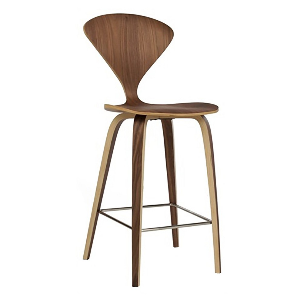 28.5 Eddie Barstool Wood/Walnut (Brown) - Aeon