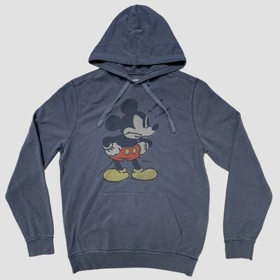0fadd9ecb859 Junk Food Men s Long Sleeve Angry Mickey Mouse Sweatshirt - Blue