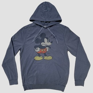 Junk Food Men's Long Sleeve Angry Mickey Mouse Sweatshirt - Blue M