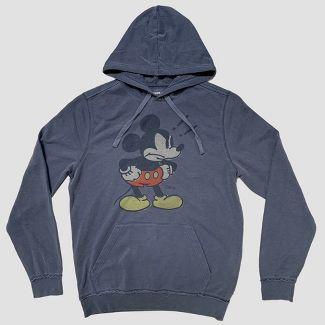 Junk Food Men's Long Sleeve Angry Mickey Mouse Sweatshirt - Blue M