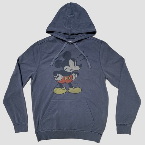 Junk Food Men's Long Sleeve Angry Mickey Mouse Sweatshirt - Blue - image 1 of 3