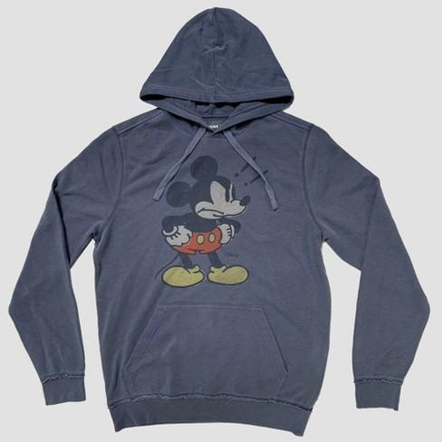 75c83e6996288 Junk Food Men s Long Sleeve Angry Mickey Mouse Sweatshirt - Blue ...