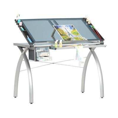 Canvas & Color Adjustable Craft Station Silver/Blue Glass - Studio Designs
