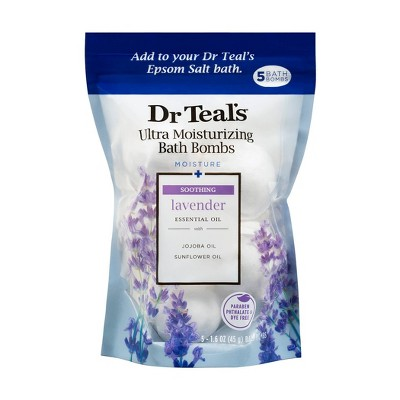 Dr Teal's Soothing Lavender Ultra Moisturizing Bath Bombs - 5ct