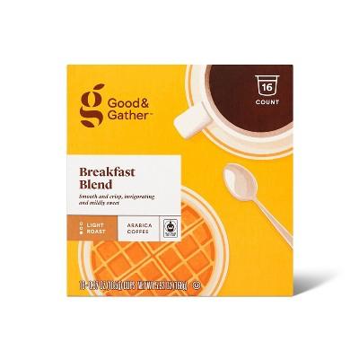 Breakfast Blend Light Roast Coffee - 16ct Single Serve Pods - Good & Gather™
