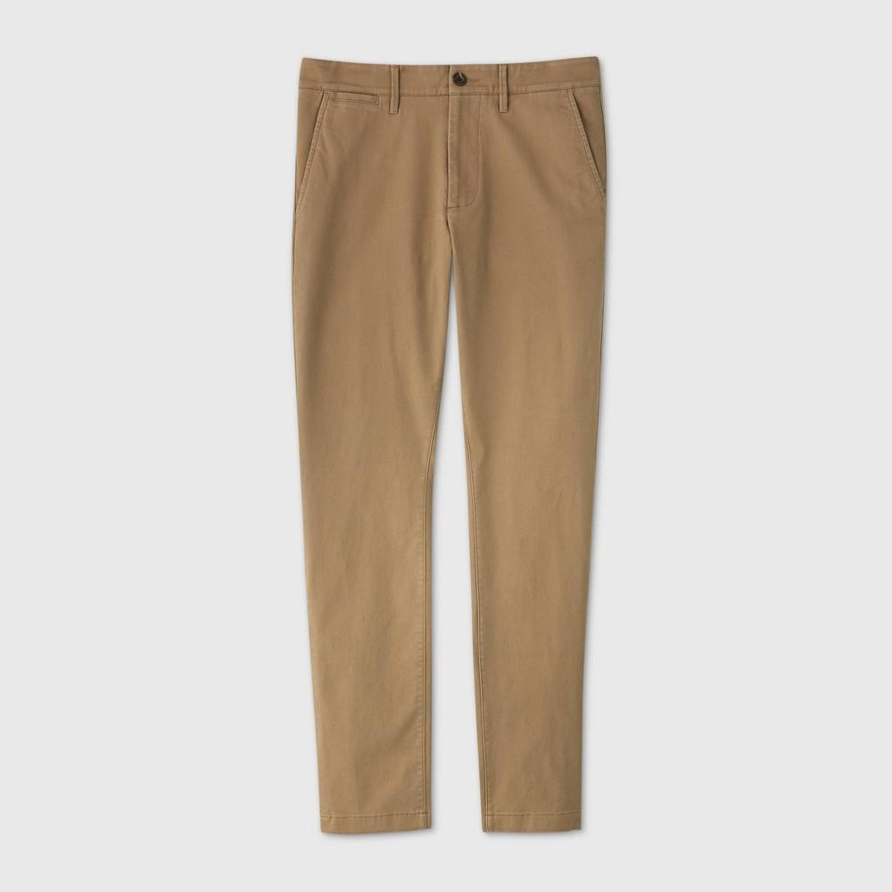 Men 39 S Skinny Fit Chino Pants Goodfellow 38 Co 8482 Tan 40x30