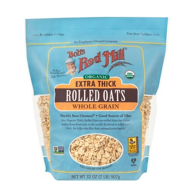 Bob's Red Mill Organic Thick Rolled Oats - 32oz