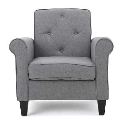 Isaac Tufted Club Chair - Gray - Christopher Knight Home