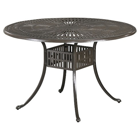 """Home Styles Largo 48"""" Round Patio Dining Table - Taupe - image 1 of 1"""