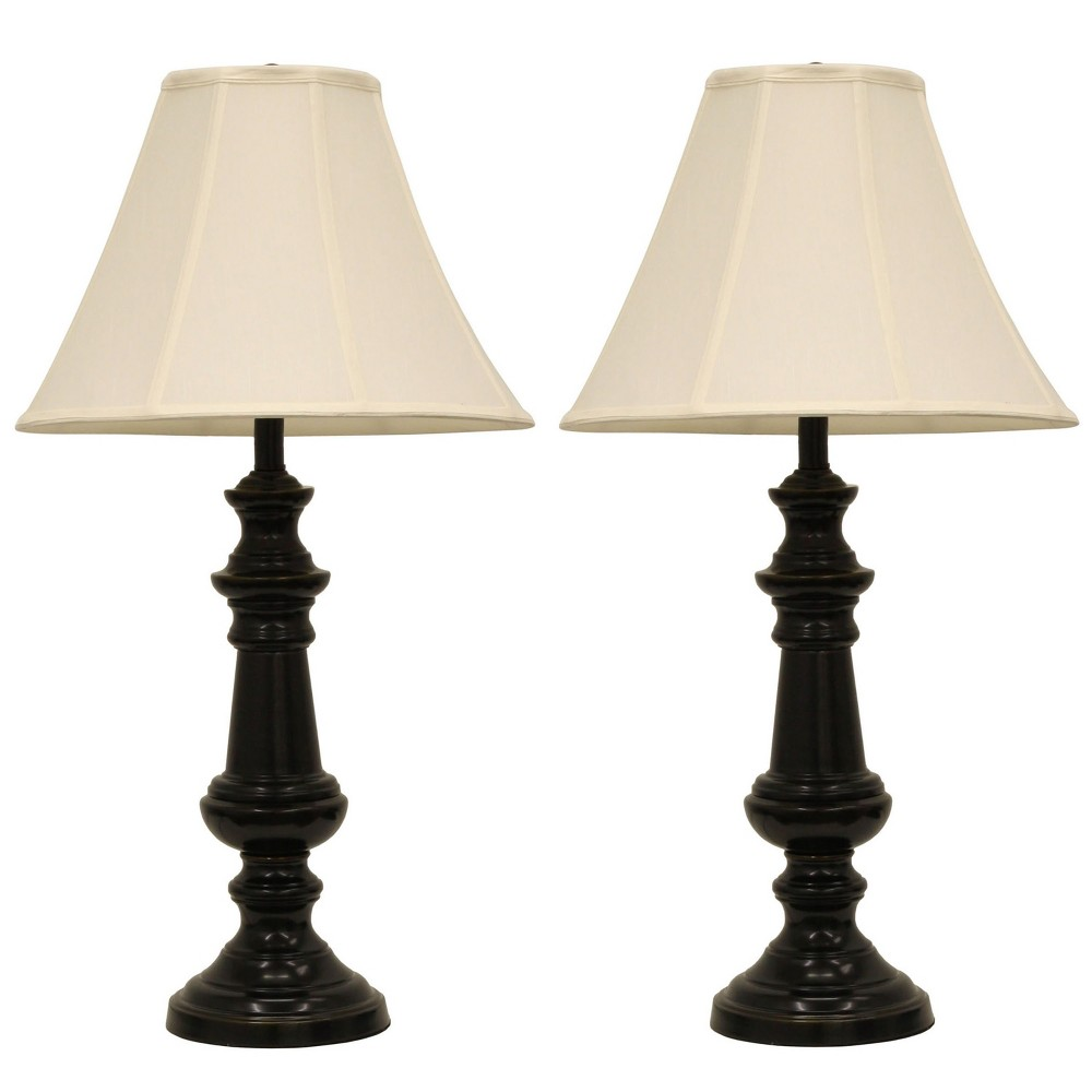 Pair Of Touch Control Table Lamps Bronze - Decor Therapy