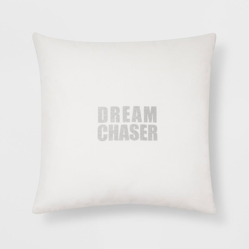 Dream Chaser Metallic (Grey) Throw Pillow - Room Essentials