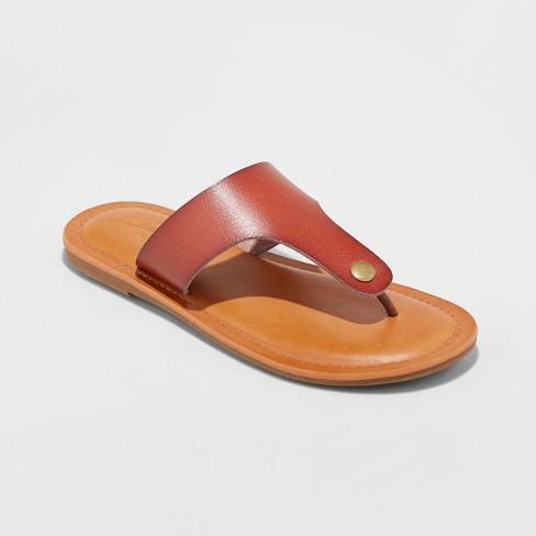 023df2626 Women s Elberta Flip Flop Sandal - Universal Thread™ Brown   Target