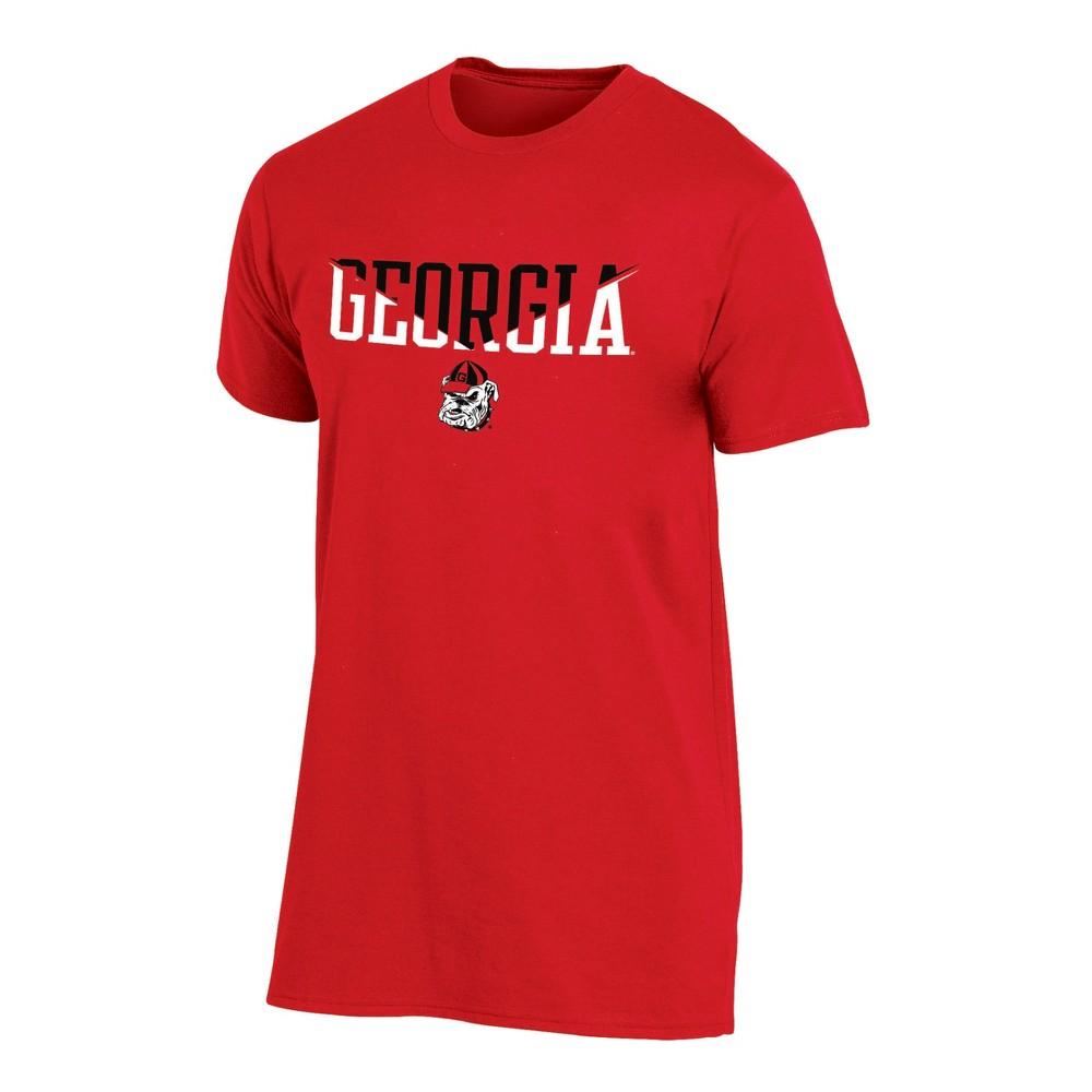Georgia Bulldogs Men's Short Sleeve Core Wordmark T-Shirt - Heather XL, Multicolored